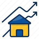 architechture, building, house, realestate, growth, graph icon