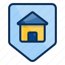 architechture, building, house, realestate, shield, protection icon