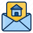 architechture, building, house, realestate, document, letter icon