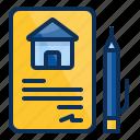 architechture, building, house, realestate, document, signage icon