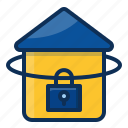 architechture, building, house, realestate, lock icon