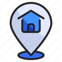 estate, home, location, map, marker, pin, real icon
