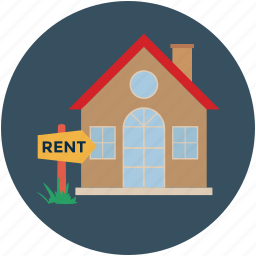 real estate, rent, rent sign, rent tag, rental house, rental sign, tolet house icon