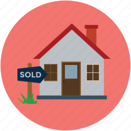 cottage, house, property for sale, real estate, sold, sold house icon