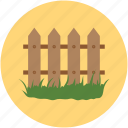 apartment fence, boundary wall, building fence, home fence, house fence, mortgage fence, wooden boundary icon