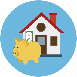 business building, business center, home, house, piggy house, real estate icon