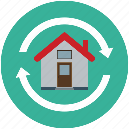 house, replacement, rotation, shifting icon