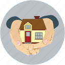 building, house, house for sale, mortgage, property, real state, sale offer icon