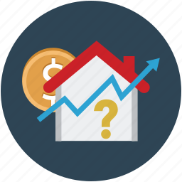 building, home, house, house amount, property, property growth, property rate icon