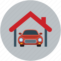 car garage, car parking, home, lounge, porch, property, real estate icon