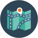 gps, location, map, map pin, navigation, real estate, road map icon