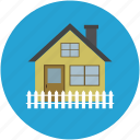 apartment, building, home, house, house fence, mortgage, property icon