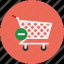 cart, delete, delete to cart, eject, eject to cart, remove cart icon