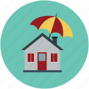 apartment, home, house, property, real estate, umbrella house icon