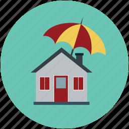 apartment, home, house, property, real estate, umbrella house icon
