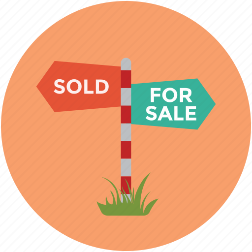 property guideline, property services, real estate, real estate sign board, sale arrow, sold arrow, sold label icon