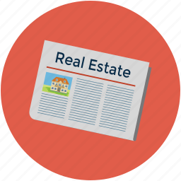 classified, newspaper, property classified, real estate ads, real estate newspaper icon