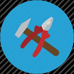 equipment, hammer, repair, service, setting icon