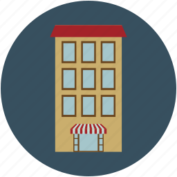 house, mall, property, real estate, residential building icon