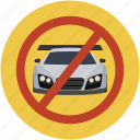 ban driving, forbade driving, forbid, forbid car, forbid driving, road safety icon