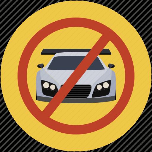 ban driving, forbade driving, forbid, forbid car, forbid driving, road safety icon