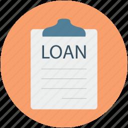 clipboard, home loan, loan application, property loan, real estate paper icon