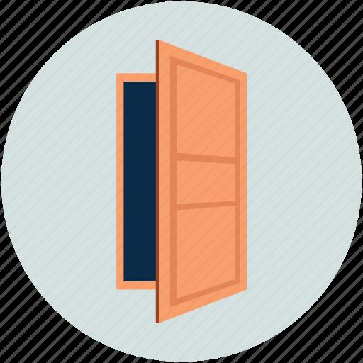 door, exit door, house door, office door, property, real estate, wood door icon
