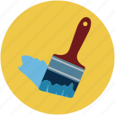 bristles paint, brush, diy, paint, paint brush, paintbrush icon