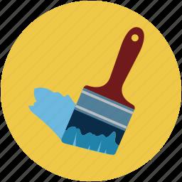 bristles paint, brush, diy, paint, paint brush, paintbrush icon