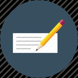 document, estimate paper, note, note paper, paper, paper pencil, write, writing icon