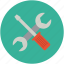 repair, screwdriver, settings, setup, tools, wrench icon
