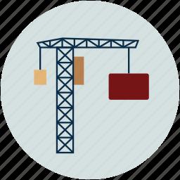box lifter, concrete lifter, concrete mixer, construction, lifter, real estate icon