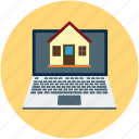 internet, online construction, online search, property online, real estate, sale property icon