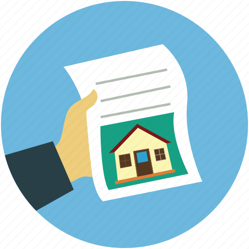 agreement, home paper, property documents, property paper, real estate paper icon