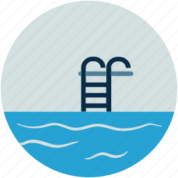 jumping, ladder, pool, pool ladders, pool stair, swimming, swimming pool icon