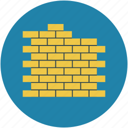 block wall, brick, brick fence, brick walls, firewall icon