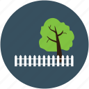 boundary wall, forest fencing, house fence, house fencing, park fencing, tree fencing, wooden boundary icon