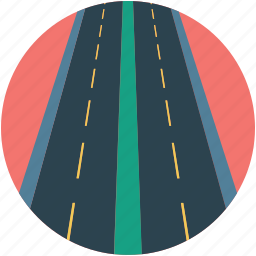 direction, high way, road, roadway, track, transport, two way icon