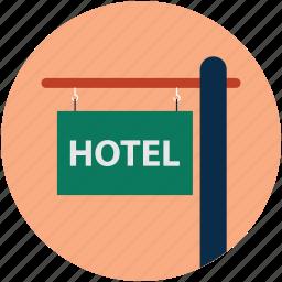 hotel board, hotel location, hotel sign, sign board icon