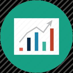 analytics, bar chart, chart, diagram, graph, growth chart, real estate chart icon
