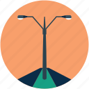 lamppost, poles, road lamps, road lights, street lamp, street light icon
