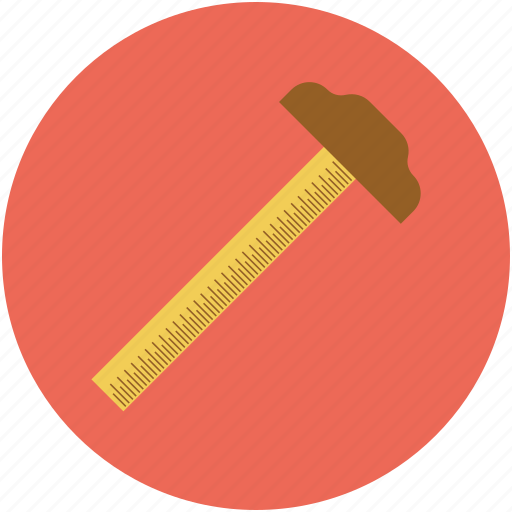 mathematical, measure, measure tool, measurement, ruler, scale icon