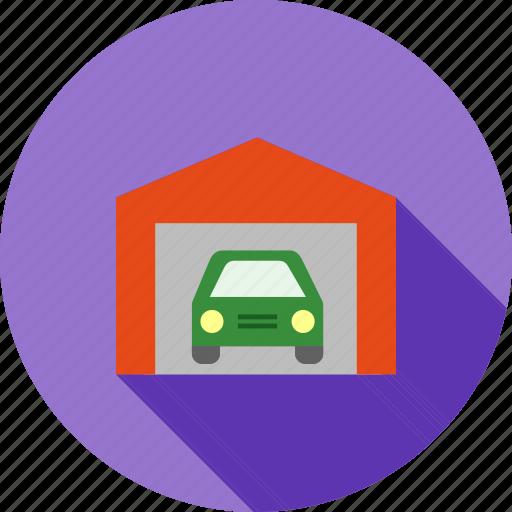 automobile, car, garage, parking, shutter, vehicle icon