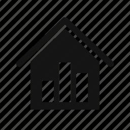 graph, real estate, statistics, stats icon