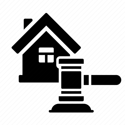 Courthouse, hammer, house, house auction, property, real estate icon - Download on Iconfinder