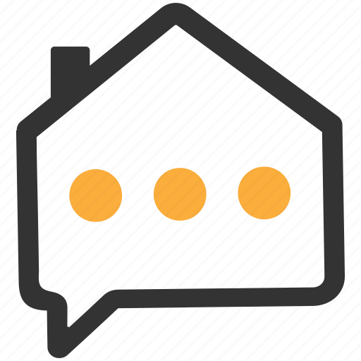Feedback, house, agent, real estate, message, consultant icon