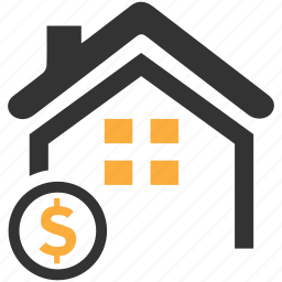 dollar, estate, home loan, investment, mortgage, real icon