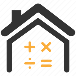 calculation, mortgage, price, property, valuation icon