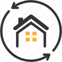 apartment, arrows, building, estate, home loan, real icon