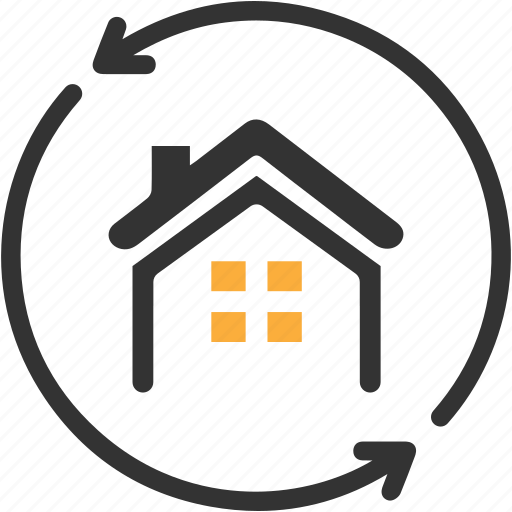 Apartment, arrows, building, estate, home loan, real icon - Download on Iconfinder